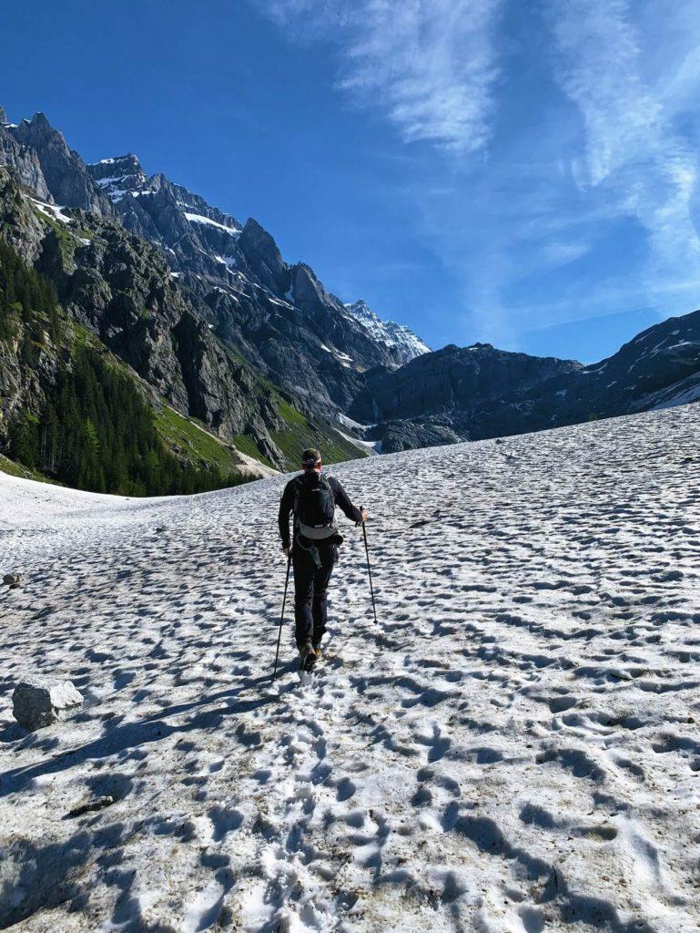 Matthias Maier   Hiking on snow fields